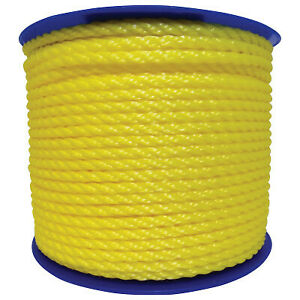 3 8 X 600 Twisted Polylite Yellow 350120yel00600r0283 1 Each