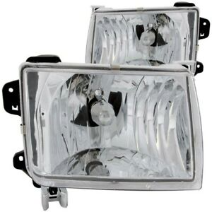 Anzo For 1998 2000 Nissan Frontier Crystal Headlights Chrome Anz111049