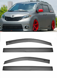 For 11 up Toyota Sienna Mugen Tape on Style Visors Jdm Side Window Rain Guards
