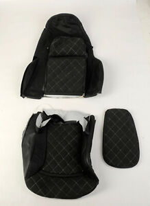 1997 2004 Corvette Alcantara Black Leather nova suede Driver Side Seat Cover