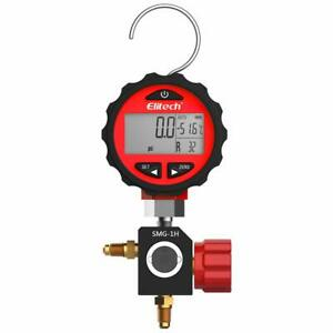 Elitech Smg 1h Refrigeration Hvac Digital Pressure Gauge Single Manifold Gauge