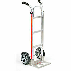 Magliner Aluminum Hand Truck With Double Handle Balloon Wheels