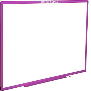 Large Magnetic Dry Erase Board Wall Mounted 24x36 Purple By Office Style