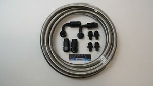 Dodge 47re Automatic Transmission Cooler Line Kit 8 An Stainless Steel Braided