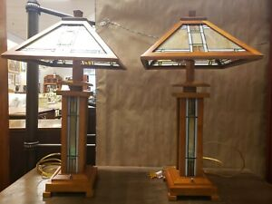 Pair Of Arts And Crafts Style Table Lamps