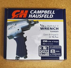 Campbell Hausfeld 1 2 In Air Impact Wrench 250 Ft Lbs Of Torque Brand New