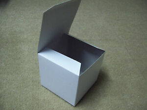 20 Boxes 2x2x2 Gift Retail Shipping Packaging White Gloss Lightweight Cardboard
