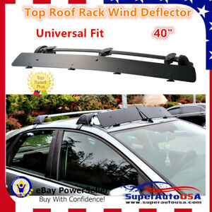 Universally Mount Fit Rooftop 40 Crossbar Wind Fairing Air Deflector Kit Super