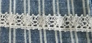 Antique Fine Cotton Lace Trim Edging 3 8 X 2 Yards Tiny For All Bisque Dolls