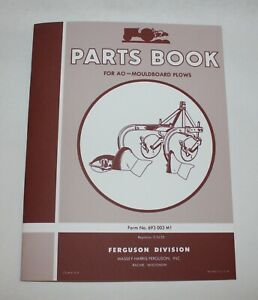 Ferguson Ao Moldboard Plow Parts Book List Part Manual Reference Guide