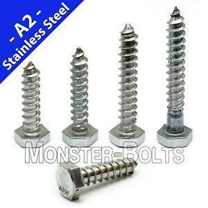 1 4 Stainless Steel Hex Lag Screws Lag Bolts 18 8 a2