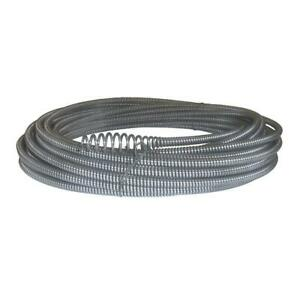 Hollow core Plumbing Drain Cleaning Cable With Bulb Auger C 21 5 16 In X 50 Ft