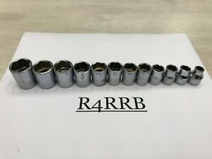 Snap On Tools Usa 1980 S 3 8 Drive Metric 6pt Shallow Chrome Socket Set 212fsmy