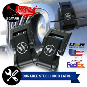 2 Day Air Army Us Flag Metal Hood Latch Lock Catch For 2007 17 Jeep Wrangler Jk