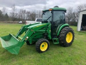 2018 John Deere 4066r Deluxe Cab Air Heat 4wd Only 182 Hours Hydrostatic