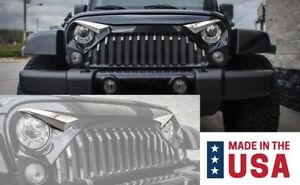 Polished Stainless Eyebrow Kit For 2007 18 Jeep Wrangler Jk W Gladiator Grille
