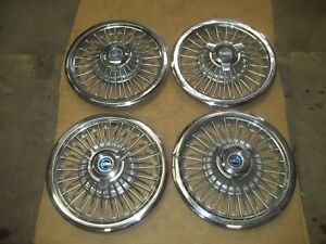 1965 65 66 Ford Galaxie Hubcap Rim Wheel Cover Hub Cap 15 Wire Oem Used 972 Set