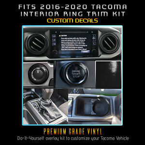 For 2016 2020 Toyota Tacoma Dashboard Interior Blackout Decal Kit Glossy Matte