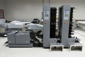 Duplo System 5000 Air feed Collator Dbm120 Automated Booklet Maker Horizon M