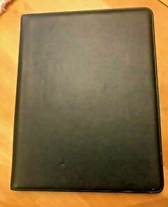 Bosca Old Leather Writing Pad 8 1 2 X 11 Black Nwot Msrp 225