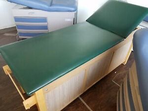 Large Medical Exam Table wood green Color