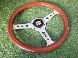 Rare Vintage 1985 Momo Indy Wood Steering Wheel Italy Classic 320mm