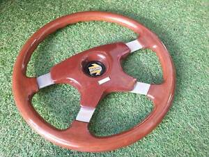 Rare Vintage 1987 Momo Astral Wood Steering Wheel Italy Classic 355mm