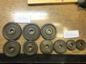 5 Gears For A Metal Lathe 60t Tooth With 5 8 Hole 3 With 9 16 Bore Hole
