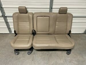 1999 2010 Ford F250 F350 F450 Super Duty Rear Seat Tan Leather Crew Cab