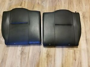 2005 2006 Acura Rsx Type S Left Right Rear Seat Back Top Portion Black Leather