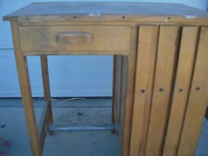 Vintage Drafting map Table With Storage 1950 1960 s