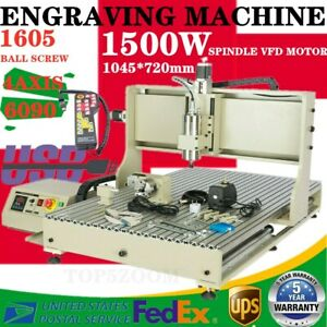 Usb 4axis 1 5kw Cnc 6090 Router Engraving Machine Milling Wood Steel Metal Rc
