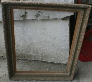 Antique Old Wooden Frame 24 X 18 Opening