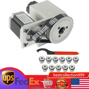 Cnc 4th Axis Hollow Shaft Rotary Router Rotational Axis Er32 Collet For Honda