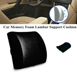Car Suv Memory Foam Lumbar Support Cushion Lower Back Pillow Seat Home Chair Kit