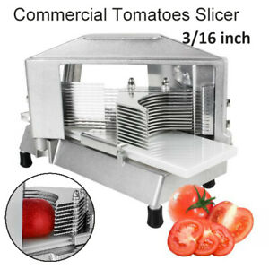 3 16 Commercial Tomato Onion Slicer Fruit Vegetable Manual Cutter Cutting Home