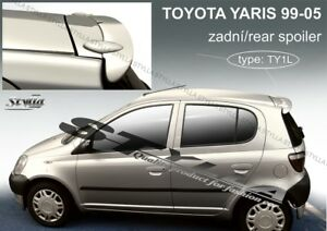 Spoiler Rear Roof Tailgate For Toyota Yaris Mk1 Mki Wing Accessories