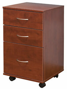 New Basicwise Office File Cabinet 3 Drawer Chest With Rolling Casters