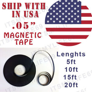 Rubber 30mil Self Adhesive Magnetic Stripe Flexible Magnet Diy Strip Tape