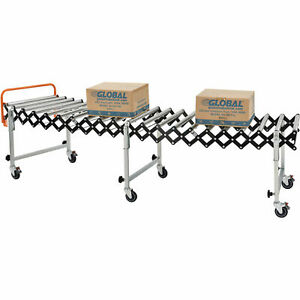 2 8 To 8 6 Portable Flexible Expandable Conveyor Steel Rollers 24 w