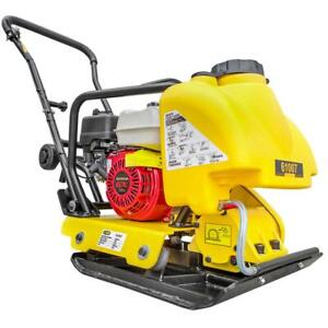 Stark 61007 5 5 Hp Gas Vibratory Plate Compactor With Tamper Rammer Water Tank