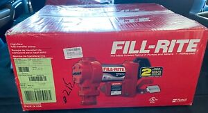 New Fill rite Fr4211gl Fuel Transfer Pump 12vdc 20 Gpm 1 4 Hp With Meter