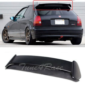 For 96 00 Honda Civic Ek9 Jdm Type R Style Spoiler Wing 3drs Hatchback Unpainted