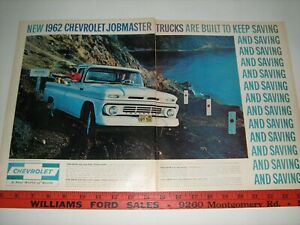 1962 Chevrolet Pickup Truck Full Color X Large Vintage 62 Ad From Private Estate