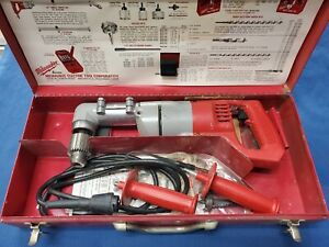 Milwaukee 1107 1 Right Angle Drill In Case Corded Ships Free