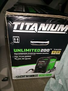 New In Box Titanium Unlimited 200 Professional Multiprocess Welder Ti ul200
