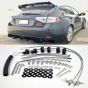 For 11 14 Wrx 08 14 Subaru Impreza Sti Riser Kit Hatch 3dr Rear Spoiler Lip Wing