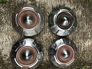 1957 60 Chevrolet Dog Dish Pickup Truck Hubcaps Covers Oem