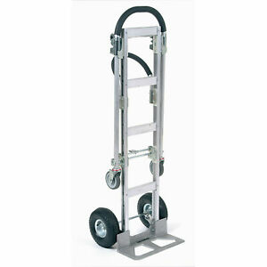 Aluminum 2 in 1 Convertible Hand Truck With Pneumatic Wheels Senior