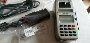 First Data Fd100ti Credit Card Processing Terminal W Power Supply